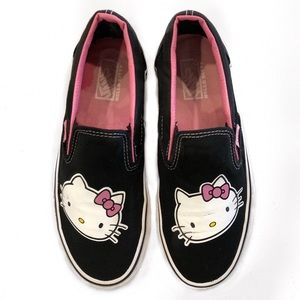 [Vans] Hello Kitty Black Slip-On Sneakers